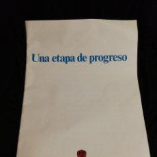 Catálogos publicitarios: PSOE, PROPAGANDA ELECTORAL 1988.. Lote 182235870