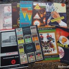 Catálogos publicitarios: LOTE 9 CATALOGOS PUBLICIDAD WASSERMANN AÑOS 60 CATALOGO OVUL ASEPTIL HEPARINA WASSER LAX MAPA ESPAÑA. Lote 182305812