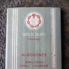 Catálogos publicitarios: CARTA CATALOGO DE HILOS DE COLORES FABRA Y COATS ALGODONES AÑO 1956. Lote 39429281