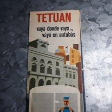 Catálogos publicitarios: FOLLETO E.M.T. MADRID. TETUAN VAYA DONDE VAYA, VAYA EN AUTOBÚS. 1973.. Lote 182632760