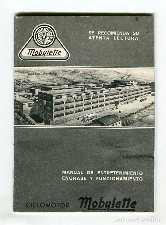 MOBYLETTE MANUAL ENGRASE Y FUNCIONAMIENTO GARATE,ANITUA Y CIA. S.A. MUY BIEN CONSERVADO (Coleccionismo - Catálogos Publicitarios)