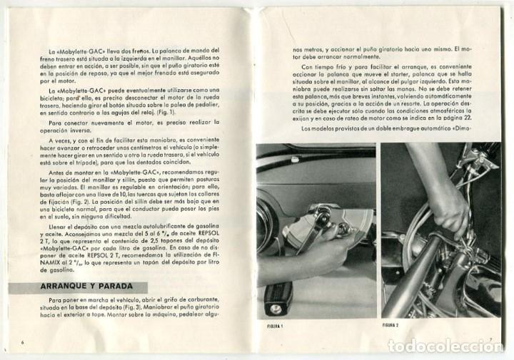 Catálogos publicitarios: MOBYLETTE MANUAL ENGRASE Y FUNCIONAMIENTO GARATE,ANITUA Y CIA. S.A. MUY BIEN CONSERVADO - Foto 3 - 182636860