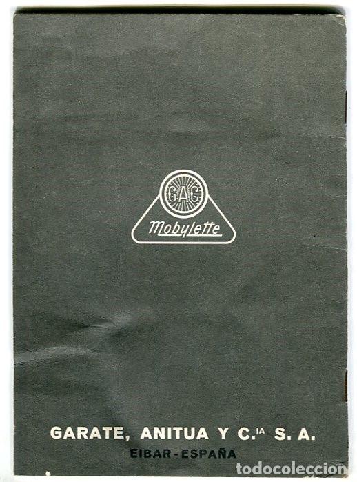 Catálogos publicitarios: MOBYLETTE MANUAL ENGRASE Y FUNCIONAMIENTO GARATE,ANITUA Y CIA. S.A. MUY BIEN CONSERVADO - Foto 5 - 182636860