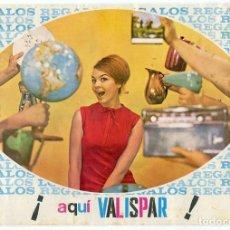 Catálogos publicitarios: VALISPAR CATALOGO PUBLICITARIO DE TODOS LOS REGALOS 23 PAGINAS COMPLETO AÑOS 60. Lote 182642907