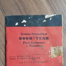 Catálogos publicitarios: ANTIGUO CATALOGO DE LOS AÑOS 30 DE NEUMATICOS GOOD YEAR. Lote 182674685