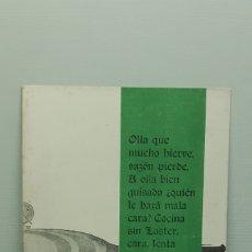 Catálogos publicitarios: LASTER - RECETARIO PUBLICIDAD OLLAS LASTER. Lote 182864643