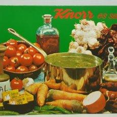 Catálogos publicitarios: KNORR ES SABOR - RECETARIO VINTAGE AÑOS 60-70. Lote 182866208