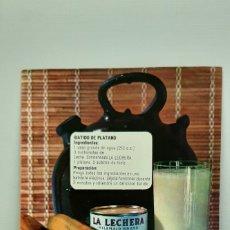 Catálogos publicitarios: LA LECHERA - DIPTICO SUGERENCIAS VERANIEGAS - AÑOS 60´. Lote 182866436