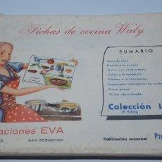 Catálogos publicitarios: FICHAS DE COCINA WALY - CREACIONES EVA - COLECCION L - 8 FICHAS. Lote 182868223
