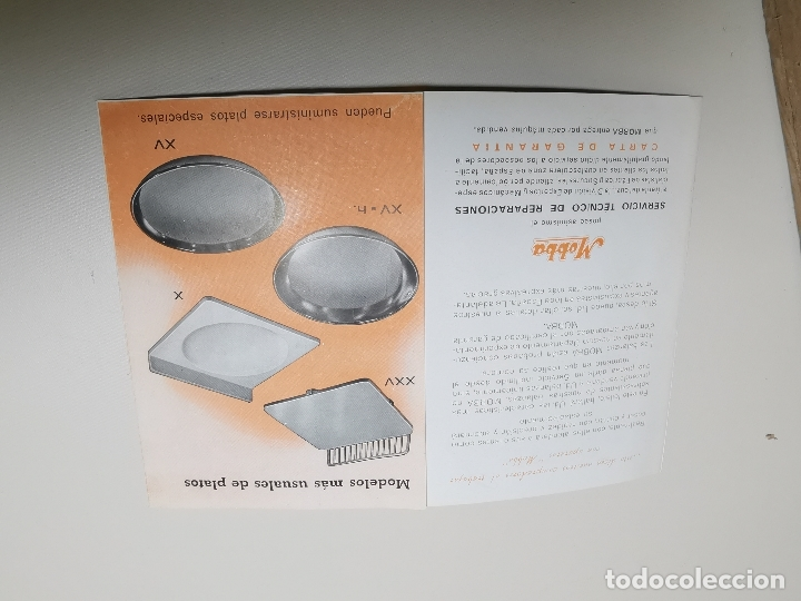 Catálogos publicitarios: DESPLEGABLE PUBLICIDAD BASCULAS BALANZAS MOBBA--MODELOS-J.ALTET EL VENDRELL--AÑOS 50------ REF-ZZ - Foto 5 - 183088660