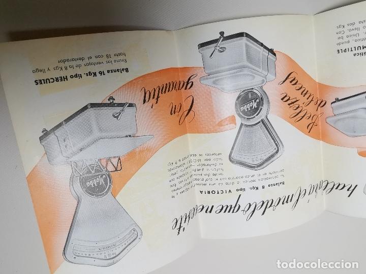 Catálogos publicitarios: DESPLEGABLE PUBLICIDAD BASCULAS BALANZAS MOBBA--MODELOS-J.ALTET EL VENDRELL--AÑOS 50------ REF-ZZ - Foto 6 - 183088660