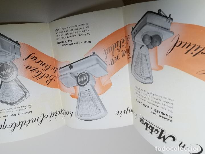 Catálogos publicitarios: DESPLEGABLE PUBLICIDAD BASCULAS BALANZAS MOBBA--MODELOS-J.ALTET EL VENDRELL--AÑOS 50------ REF-ZZ - Foto 8 - 183088660