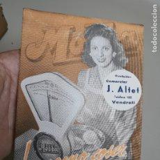 Catálogos publicitarios: DESPLEGABLE PUBLICIDAD BASCULAS BALANZAS MOBBA--MODELOS-J.ALTET EL VENDRELL--AÑOS 50------ REF-ZZ. Lote 183088660