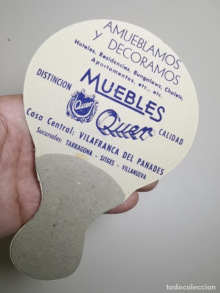 Catálogos publicitarios: ABANICO PAYPAY PUBLICIDAD MUEBLES QUER VILAFRANCA PANADES AÑOS 40-50-PAY PAY--- REF-ZZ - Foto 3 - 183201521