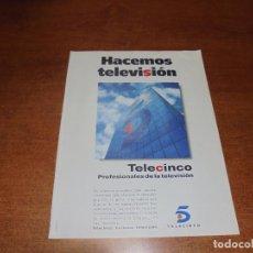 Catálogos publicitarios: PUBLICIDAD 1997: TELE CINCO. Lote 183445190