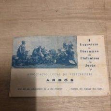 Catálogos publicitarios: II EXPOSICIO DE DIORAMES DE L INFANTESA DE JESÚS. Lote 183696400