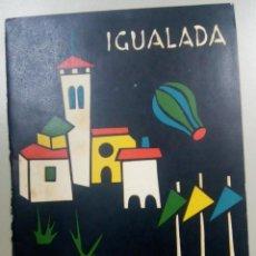 Catálogos publicitarios: PROGRAMA DE LA FIESTA MAYOR IGUALADA 1961, L11920. Lote 183835918