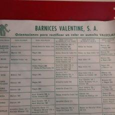 Catálogos publicitarios: VALENTINE BARNICES ESMAKTE VALECKAIR BARCELONA. Lote 184006433