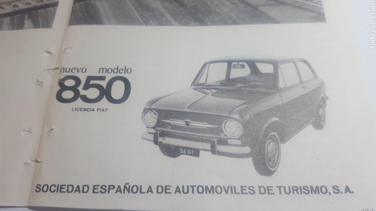 Catálogos publicitarios: AÑOS 60. DOBLE HOJA. NUEVO MODELO SEAT 850. LICENCIA FIAT - Foto 4 - 184183300
