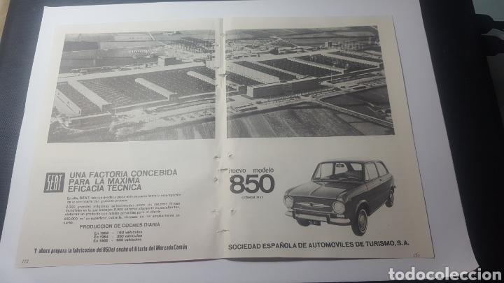 AÑOS 60. DOBLE HOJA. NUEVO MODELO SEAT 850. LICENCIA FIAT (Coleccionismo - Catálogos Publicitarios)