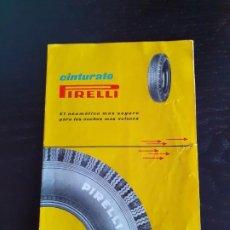Catálogos publicitarios: PIRELLI, CINTURADO. Lote 184781462