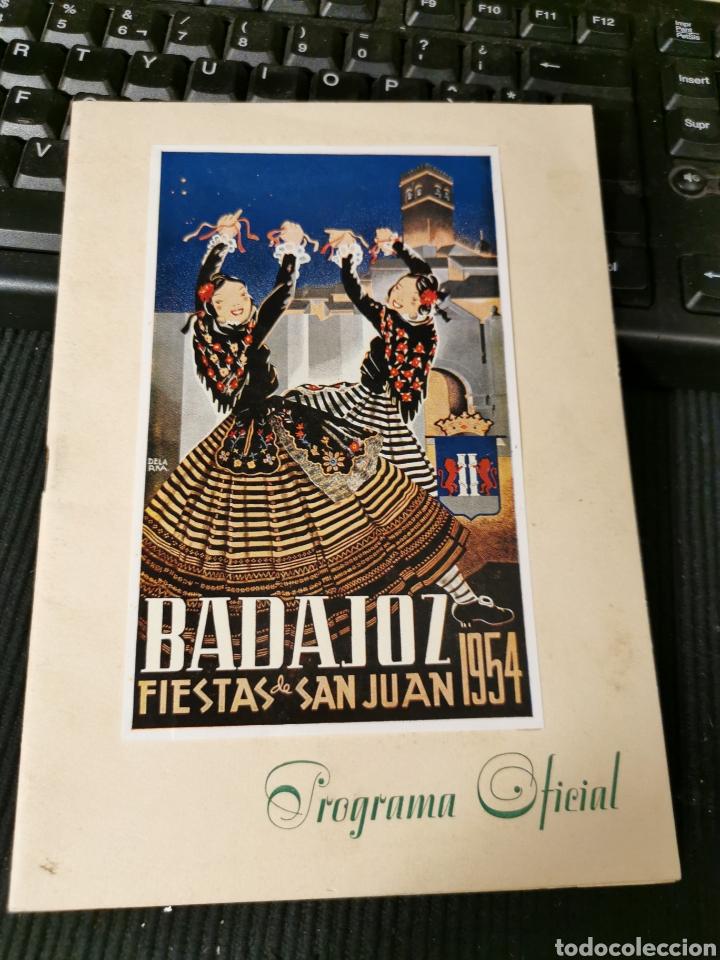 FIESTAS DE SAN JUAN 1954 BADAJOZ. PROGRAMA DE FIESTAS. (Coleccionismo - Catálogos Publicitarios)