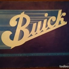 Catálogos publicitarios: CATÁLOGO DE COCHES BUICK. AÑOS 30. . Lote 184867741