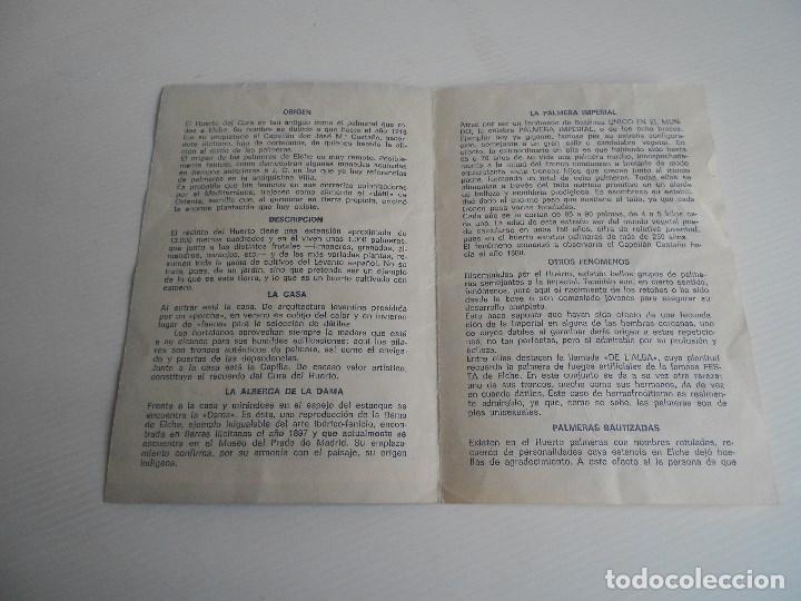 Catálogos publicitarios: el huerto del cura ,elche, jardin artistico nacional - Foto 2 - 185699301