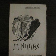 Catálogos publicitarios: CATALOGO PUBLICIDAD-MINIMAX-BARCELONA-PUIGMARTI Y BALLBE-VER FOTOS-(V-18.418). Lote 185916265