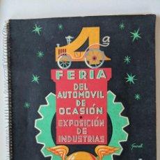 Catálogos publicitarios: RRR 4ª REVISTA FERIA DEL AUTOMOVIL DE OCASION - 1954 - PUENTECESURES - GALICIA. Lote 185983495