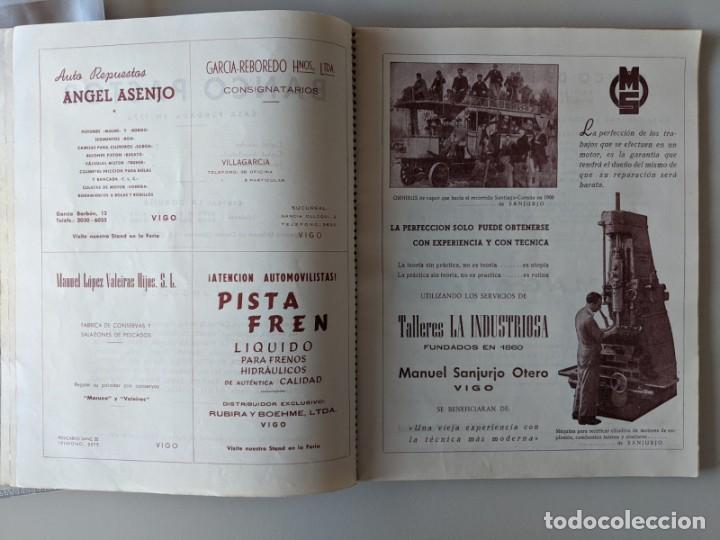 Catálogos publicitarios: RRR 4ª REVISTA FERIA DEL AUTOMOVIL DE OCASION - 1954 - PUENTECESURES - GALICIA - Foto 4 - 185983495