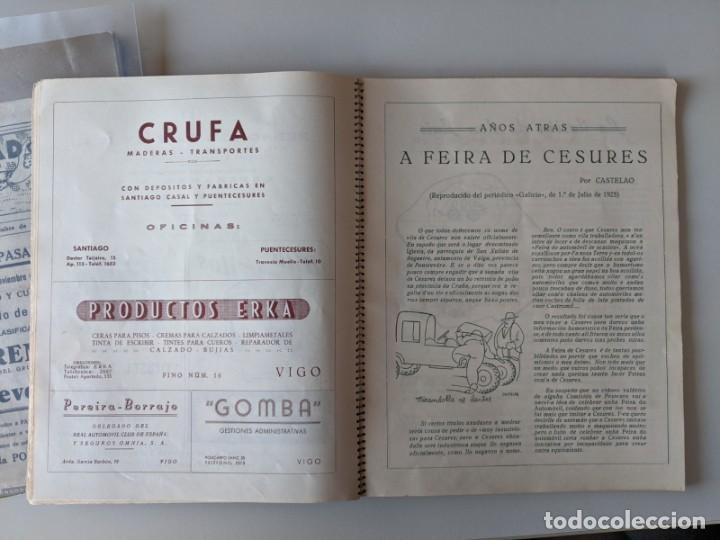 Catálogos publicitarios: RRR 4ª REVISTA FERIA DEL AUTOMOVIL DE OCASION - 1954 - PUENTECESURES - GALICIA - Foto 7 - 185983495
