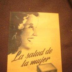 Catálogos publicitarios: PUBLICIDAD ANTIGUA (AÑOS 40): CELUS (HIGIENE FEMENINA) (BILBAO). Lote 186175201