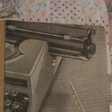 Catálogos publicitários: ANTIGUO FOLLETO.CONSERVACION MAQUINA DE ESCRIBIR HISPANO OLIVETTI 46.. Lote 187485343