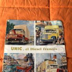 Catálogos publicitarios: UNIC-EL DIESEL FRANCES-FRANCIA-TIPO POSTER.. Lote 188717762