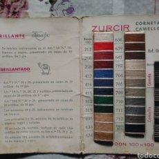 Catálogos publicitarios: ANTIGUA CARTA DE COLORES DE HILOS. Lote 189342685