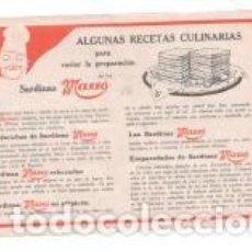 Catálogos publicitários: PUBLICIDAD SARDINAS MASSÓ.. Lote 189439136
