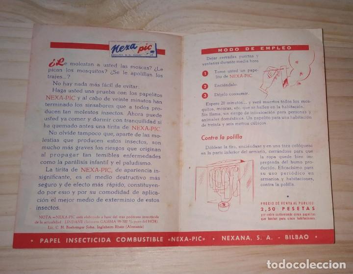 Catálogos publicitarios: PAPEL PUBLICITARIO INSECTICIDA NEXA PIC. NEXANA, BILBAO. MUY BUEN ESTADO. - Foto 2 - 189533323