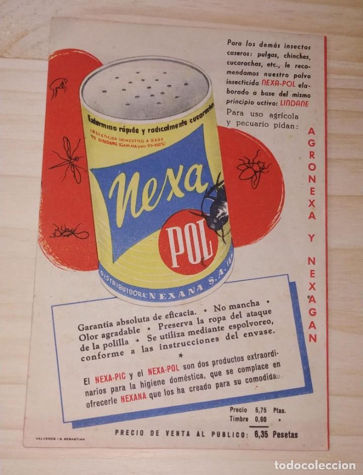 Catálogos publicitarios: PAPEL PUBLICITARIO INSECTICIDA NEXA PIC. NEXANA, BILBAO. MUY BUEN ESTADO. - Foto 3 - 189533323