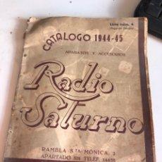 Catálogos publicitarios: RADIO SATURNO 1944-45. Lote 190008458