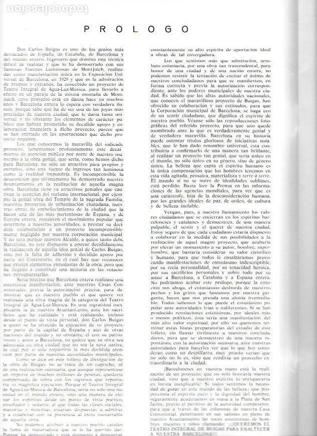 Catálogos publicitarios: Teatro integral con escenario de agua-luz-música proyecto de Carlos Buigas. 32x22cm. 24 p. - Foto 2 - 246071130