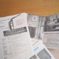 Catálogos publicitarios: LOTE CATÁLOGOS MÁQUINAS DE COSER COSTURA. Lote 190858093