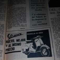 Catálogos publicitarios: PUBLICIDAD 1959 VESPA MODELO N 1960. Lote 191189891