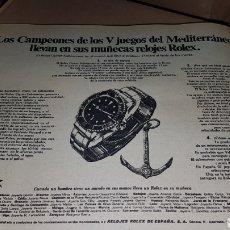 Catálogos publicitarios: PUBLICIDAD PRENSA 1967 ROLEX. Lote 191191546