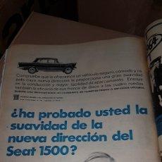 Catálogos publicitarios: PUBLICIDAD PRENSA 1967 SEAT 1500. Lote 191191637