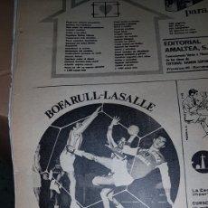 Catálogos publicitarios: PUBLICIDAD PRENSA 1967 BOFARULL- LASALLE CLUB DE BALONMANO. Lote 191191795