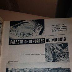 Catálogos publicitarios: PUBLICIDAD PRENSA 1959 SACONIA EMPRESA CONSTRUCTORA PALACIO DE CONGRESOS DE MADRID. Lote 191193225