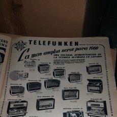 Catálogos publicitarios: PUBLICIDAD PRENSA 1959 TELEFUNKEN. Lote 191196628