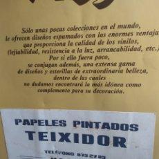 Catálogos publicitarios: CATÁLOGO PAPELES PINTADOS SARRIO COMPAÑÍA PAPELERA DE LEIZA S.A TEIXIDOR MANRESA. Lote 191197657
