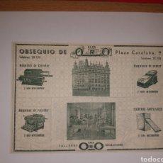 Catálogos publicitarios: PULICIDAD MAQUINAS DE ESCRIBI Y CALCULAR BARCELONA. Lote 191198357